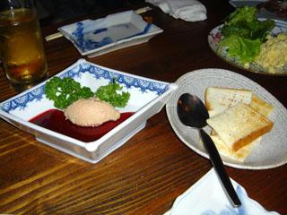 鶏レバーのパテとラズベリーソース