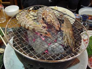 海老の炭火焼き
