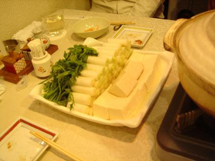 ネギと芹、そしてお豆腐