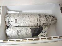 簀巻きにして冷蔵庫の野菜室送り。